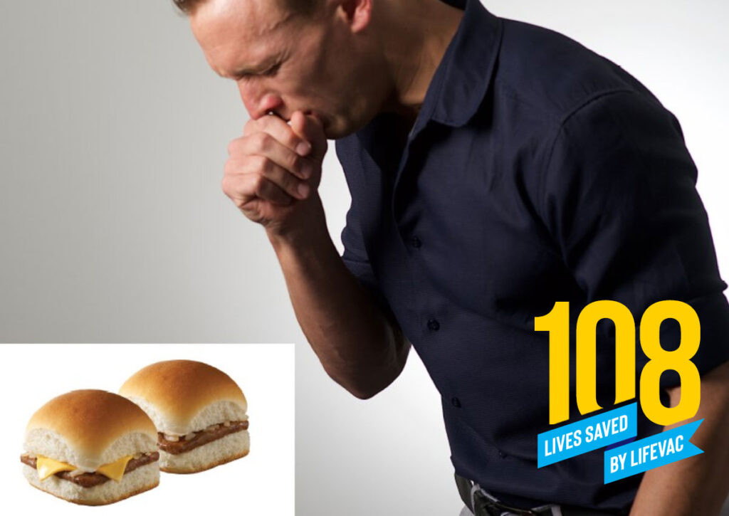 Man chokes on hamburger but is saved by LifeVac