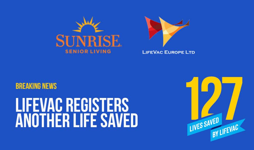 Elder care home saves life with LifeVac