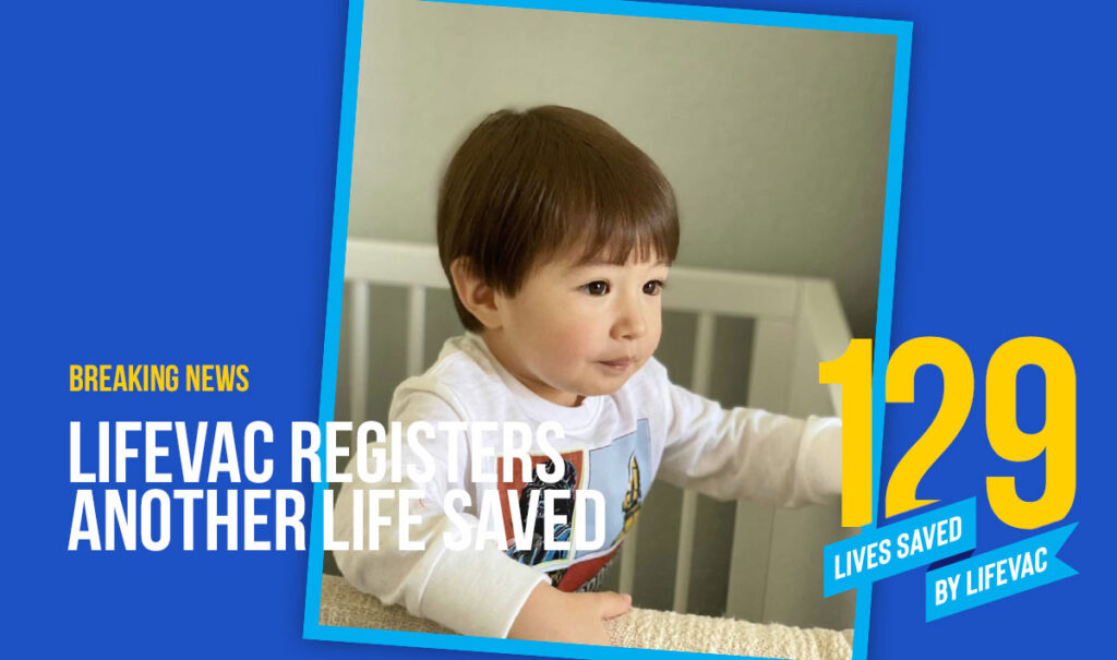 2 year old boy saved from choking by LifeVac