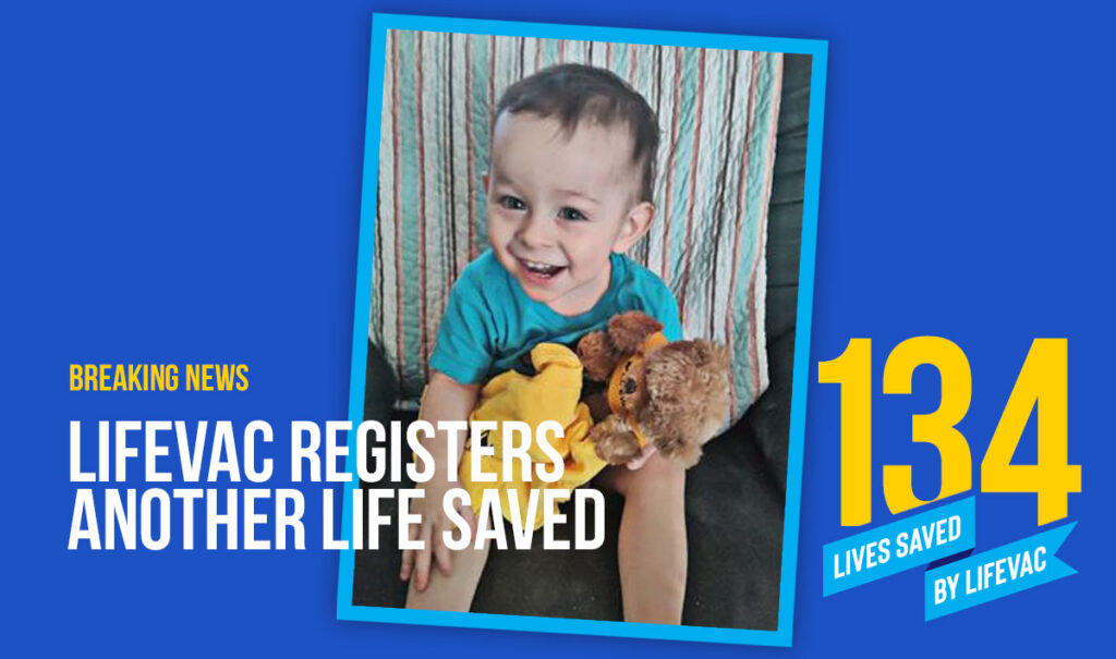 18-month-old saved from choking with LifeVac