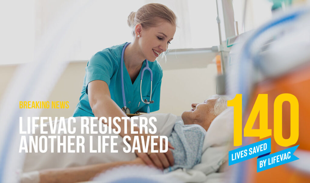 LifeVac Saves Patient in Hospital from Choking
