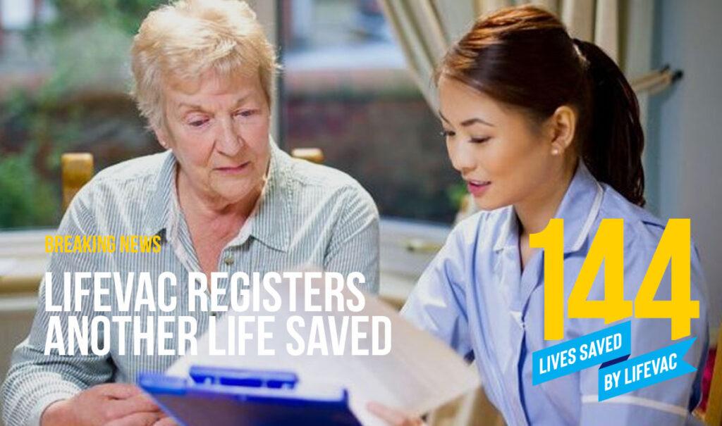 LifeVac Saves 144th Life