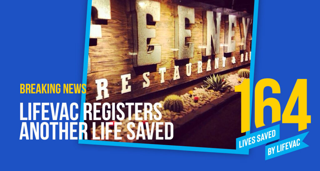 Woman Saves Stranger at Restaurant with Lifevac when Heimlich fails