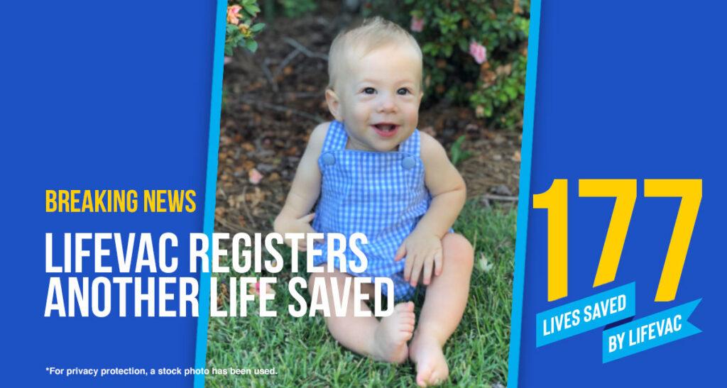 Toddler Saved from Choking with LifeVac in Irmo SC restaurant