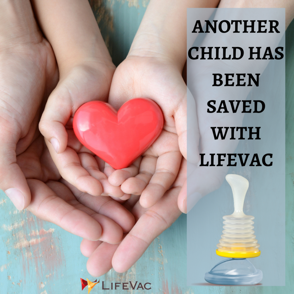 Choking First Aid saves another child's life